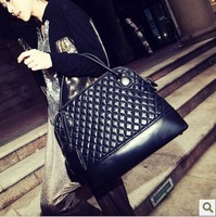 2013 new female  rivet package stitching flannel bag shoulder bags fashion handbag free shipping GT432