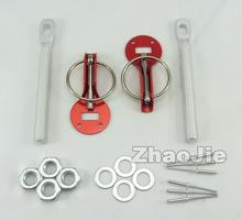 Sparco Car Racing Engine Bonnet Hood Pin Flip Over Security Lock Kit Set Universal Red(China (Mainland))