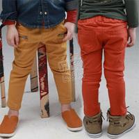 2013 spring boys girls clothing baby child clothing zipper casual long trousers kz-1350