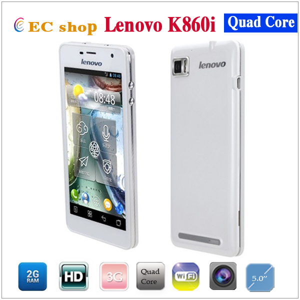 In Stock New Arrival Lenovo k860i Quad Core 3G Android 4.0 Smartphone 2GB RAM 16GB ROM 5'' IPS Screen 1280*720 WIFI GPS Phone(China (Mainland))