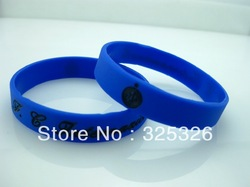 50pcs/lot HOT BRAND Inter Milan FC Soccer Badge Wristbands Bracelets custom cheap engraved silicone band bracelet Fast Ship(China (Mainland))