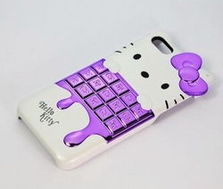 Free/Drop Shipping Hello Kitty Ice Cream Design Phone Case for Iphone 4 for Iphone4S 6 Colors Protective Cover Case New Hot Sale(China (Mainland))
