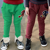 2013 spring letter boys clothing girls clothing baby child breeched long trousers kz-1361