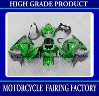 ABS race fairing for Kawasaki Ninja ZX 250R 2008-2011 ZX250 08 09 10 11 green bodywork fairing kit customize bicycle part