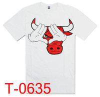 The bull shirt  2013 New arrivals  Sport Style  T shirt men shirt T shirts  tees men Size S-XXL pure cotton Free shipping