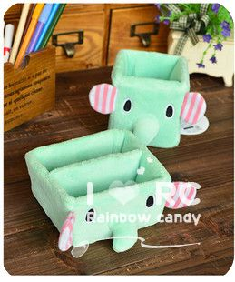 Small fresh circus mint green like plush pen remote control storage box cell phone holder glove box sundries box(China (Mainland))