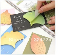 Freeshipping Stationery leaves notes/notebook/note pad memo sticky stickers notes posted self-adhesive leaf shape memo pad/note