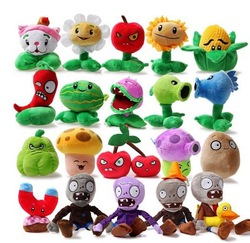 Free Shipping 10cm-26cm Full Set Good quality Plants VS . Zoombies Plush Toy Dolls Belt Sucker,Child Gift Plants vs Zombies Doll(China (Mainland))
