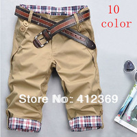 Free Shipping 2013 fashion leisure seven pants pants for men 10 color