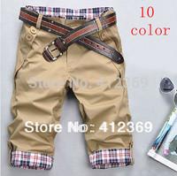 Free Shipping 2013 fashion leisure seven pants pants for men 10 color