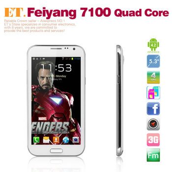 Fly 7100+ MTK6589 Quad Core phone 1GB RAM 4GB ROM 5.3inch ips screen android 4.2 dual camera 8.0MP WCDMA 3G