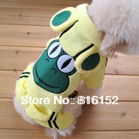 Hot selling Pet Costume Lovely Cotton Frog Clothes Size XS to 4XL