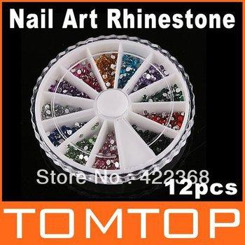 20pcs/lot, Nail Art Glitter Rhinstone Nail Accessory, Free Shipping