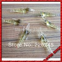 New Fishy Shrimps Smell !! 10X 4CM Fishy Smell Shrimp luminous Fishing Lure Soft lure Shrimps,10pcs+Free Shipping