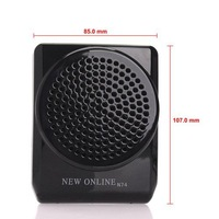 Black New Online N74 Mini Portable Voice Amplifier With Headset Microphone