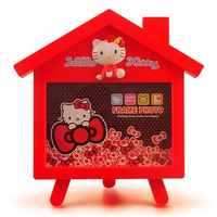 Free shipping, Cartoon house design photo frame Home Decor Plastic rahmen Hellokitty picture frame Fit 5 inch photo