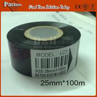 High quanlity Black Ribbon 25*100M for Ribbon Coding Machine,20000 times printer