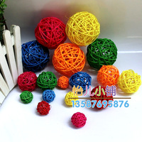 Free shipping diameter 9,7,5,3cm Sepak takraw hangings multicolour diy decoration ball circle rattan ball curtain bead curtain
