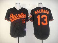HOT 13# Manny Machado black jerseys Baltimore Orioles Baseball Jersey Embroidery logos cool base Mix Order Size 48-56