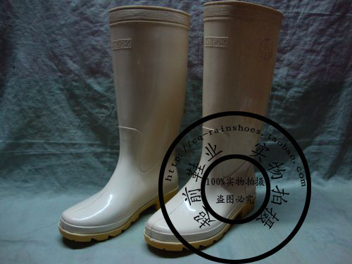Safety rain boots wan xin rainboots high pure white cow muscle outsole rainboots pvc rain boots(China (Mainland))