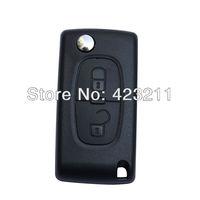 Folding Remote Key Shell Case For Peugeot 107 207 307 307S 308 407 607 2BT  FT0269
