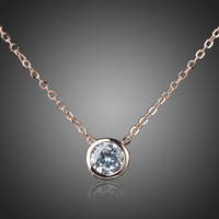 P4281  free shipping  18k, Plated Gold  Austrian Crystal 18k  fashion jewelry chains necklace 925 silver pendant Great Men,Women