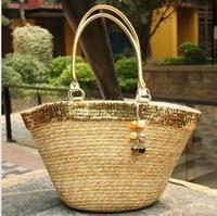 Beautiful  straw beach bag