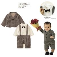 free shipping Children's clothing  child baby Newborn Gentleman clothes male  spring blazer outerwear 100% cotton bodysuit suits