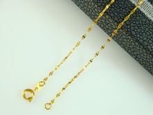 Wholesale New arrival fashion Jewelry vacuum plated 24K gold necklace 46CM Women's necklace ! Free Shipping JXL4192