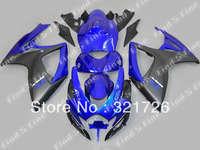 blue black for SUZUKI GSXR600 750 06-07 GSXR750 06 07 GSXR 600 2006 2007 2006-2007 ABS fairing kit