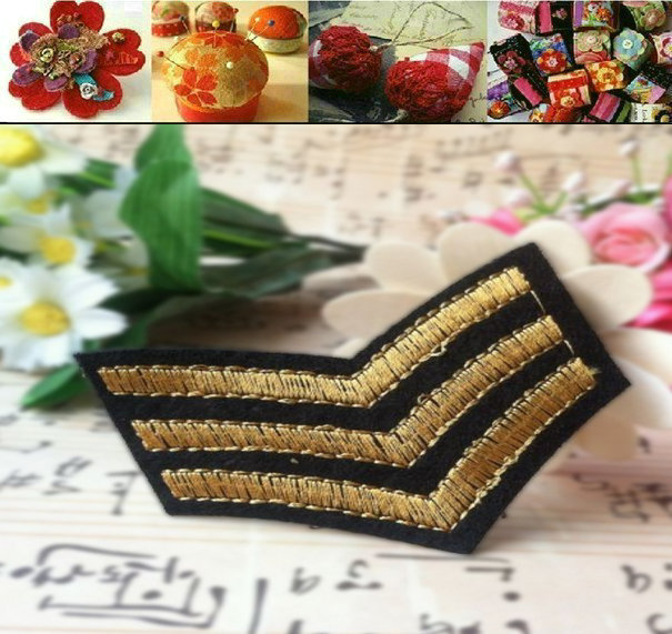 Gold medal fabric armatured badge patch stickers embroidery decoration stickers military wind 5.5cm 6.8cm(China (Mainland))