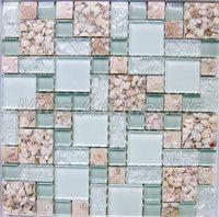 [Mius Art Mosaic] Light Green glass mosaic tile & resin mosaic tile  B5M4801