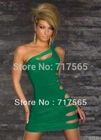 Sexy one-piece Holes Dresses Club Wear Stage Wear Sexy Dance Dress + Cheaper price + Free Shipping Mini Dress
