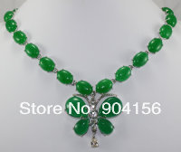 Beautifully Handmade Jade Necklace. Free Shipping  X-003