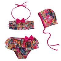Free shipping 2014 child swimwear girls swimwear child bikini split swimwear baby swimwear  bathing suits