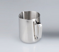 Free shipping  Latte Art Coffee pot utensils statuesque flower cup stainless steel statuesque flower cup 350ml
