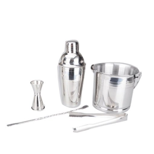 Bar tools bundle 5 pieces set ice bucket shaker measuring cup spoons tools(China (Mainland))