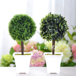 Rustic artificial plants bonsai small resin basin sphere artificial tree decoration(China (Mainland))