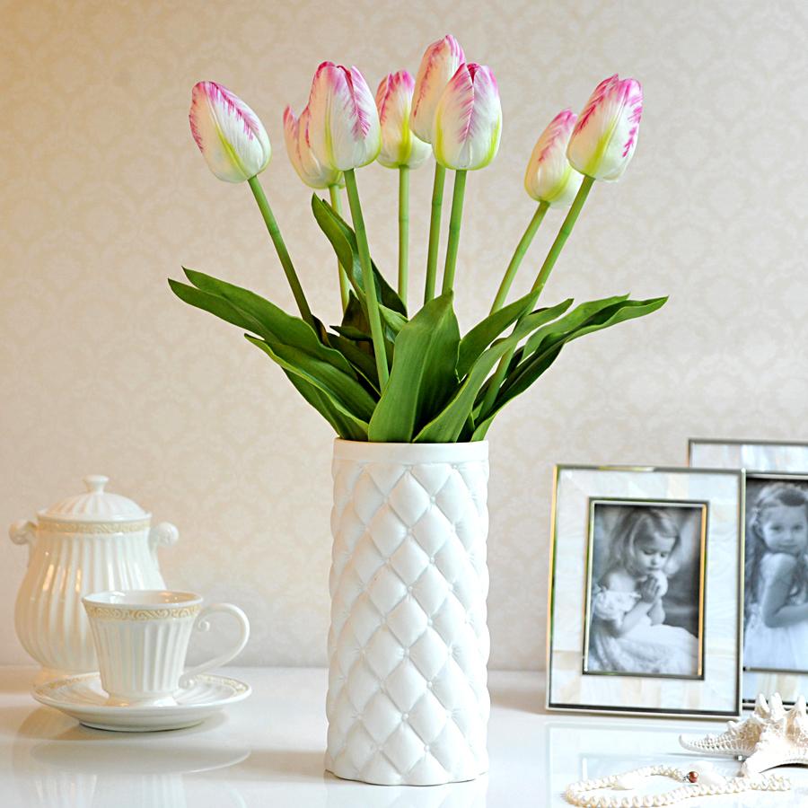 Pu Quality Artificial Flowers Single Color 6 Home Living