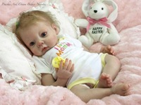 "FreeShipping Reborn Baby Doll Kit Silicone Vinyl Head ,3/4 Arms And Legs For 20-22"" Baby Dolls Fashion Dolls Accessories"