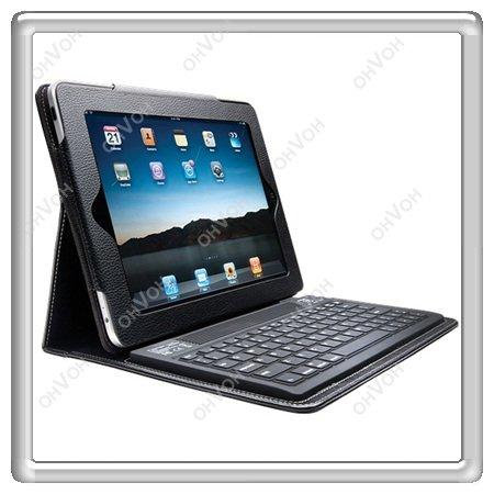 Wholesale! 2 in 1 Wireless Bluetooth Keyboard + Folding Leather Protective Case for Apple iPad iPad2 UK + Free Shipping(China (Mainland))