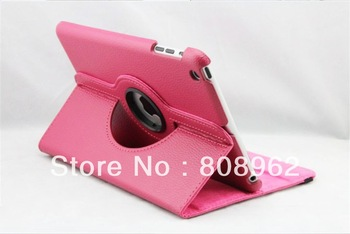 360 Rotary Leather case leather stand with Magnetic For iPad Mini 7.9'' Tablet PC