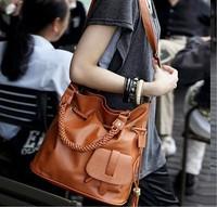 2014 Korean  fashionable women casual bags  classics restore ancient  bucket  messenger bags women handbag brown bag