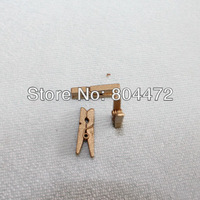 "50 miniature wooden mini clothespins * tiny | 1"" long 