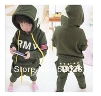 2012 new Korean children's wear thick sections of Fleece Winter Sports American child Suite