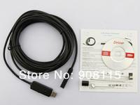 7M Waterproof Tube Snake Endoscope USB 2.0 Pipe Borescope Digital Video Camera IP66 Free Shipping