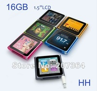 "New 16GB 6th Gen 1.5"" LCD  digital mp4 player, video, FM radio, Recoder, mp3 player Free shipping"