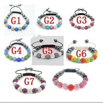 wholesale 11 bead Shamballa Bracelet , bracelets bangles for womem chain link bracelets