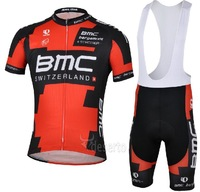 2013 NEW!!! BMC bib short sleeve cycling jerseys wear clothes bicycle/bike/riding jerseys+bib pants shorts