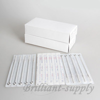 Free Shipping 50pcs Disposable Sterilized Stainless Steel Tattoo Machine Needles 5M2 Supply